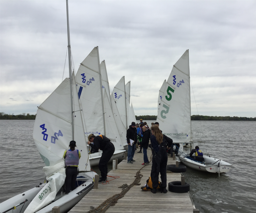 Students from schools all over Ohio and Michigan hop on their boats.
