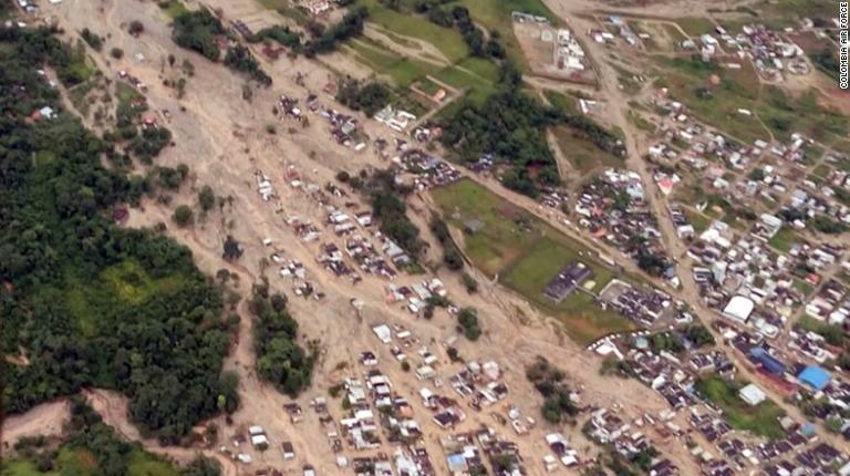 Landslide in Colombia