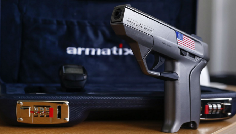 Armatix+Smart+Gun.+A+gun+paired+with+a+watch+and+can+only+fire+when+held+within+10+inches+of+the+wristwatch.+Courtesy+of+bz.com