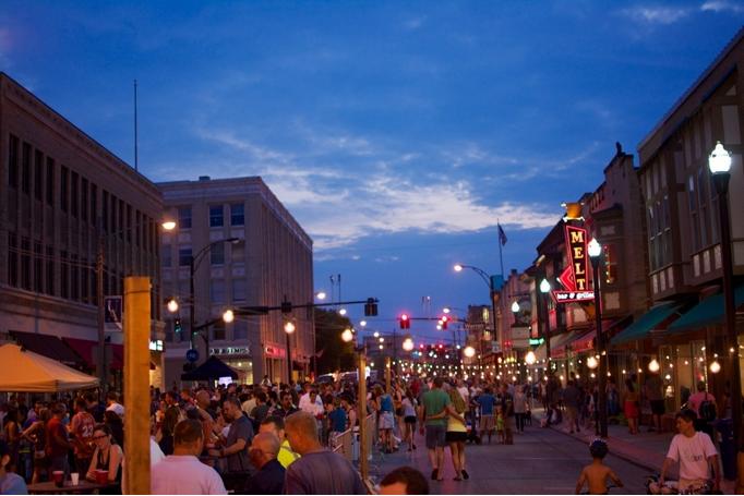 Downtown Lakewood at Night
