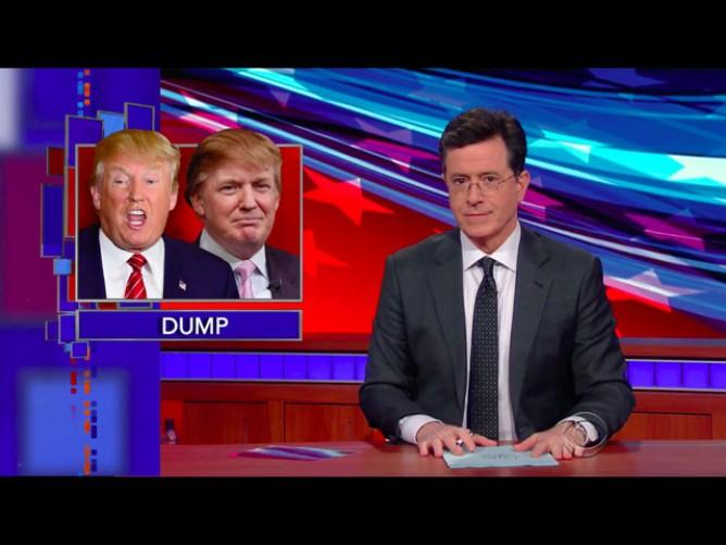 Stephen Colbert Rants at Trump