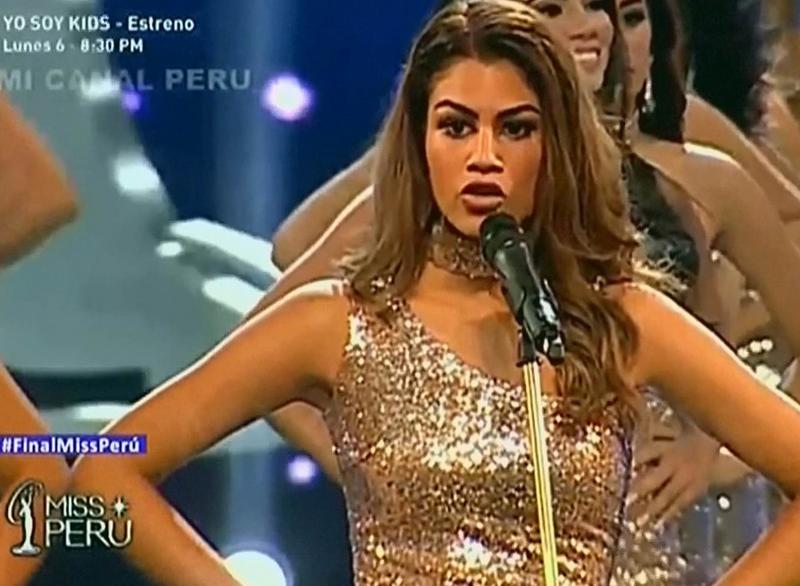 Miss+Peru+Contestant+Give+Gender+Violence+Statistics+For+Their+Measurements