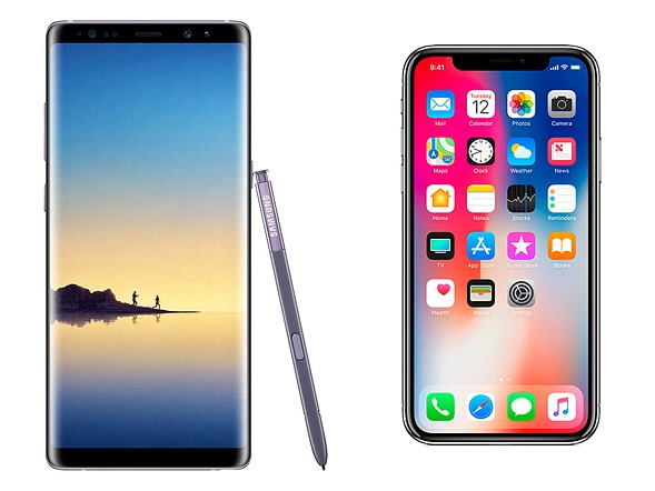 iPhone X vs. Galaxy Note 8
