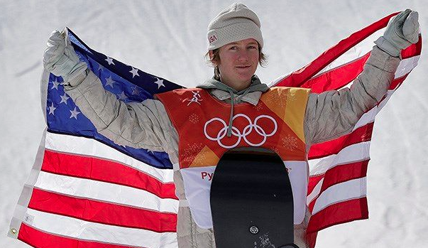 Red Gerard, 17 year old gold medalist