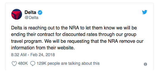 Delta Ditches NRA