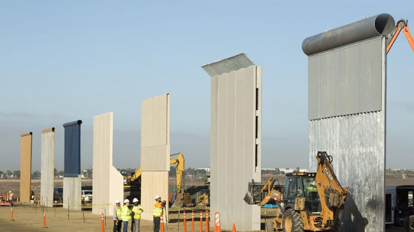Construction started on wall in New Mexico