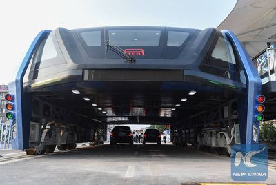 Transit Elevated Bus in China