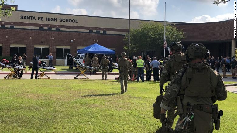 Harris County Sheriff Office tweet:   ???We are assisting @SantaFeISD with a multiple-casualty incident at Santa Fe High School. This is no longer an active shooting situation and the injured are being treated. #hounews???   GUIDANCE:  ???multiple casualty incident??? can mean INJURIES or DEATHS???do not take this tweet as confirmation of fatalities.