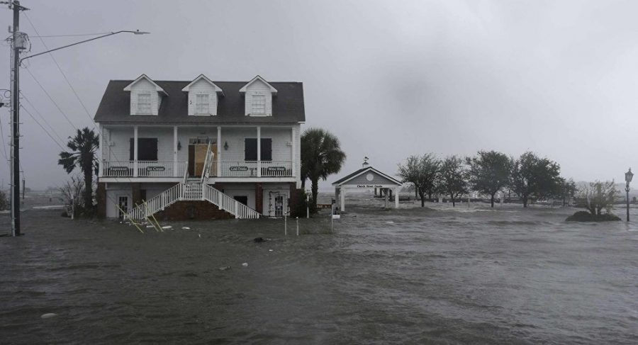 Widespread flooding in parts of the Carolinas