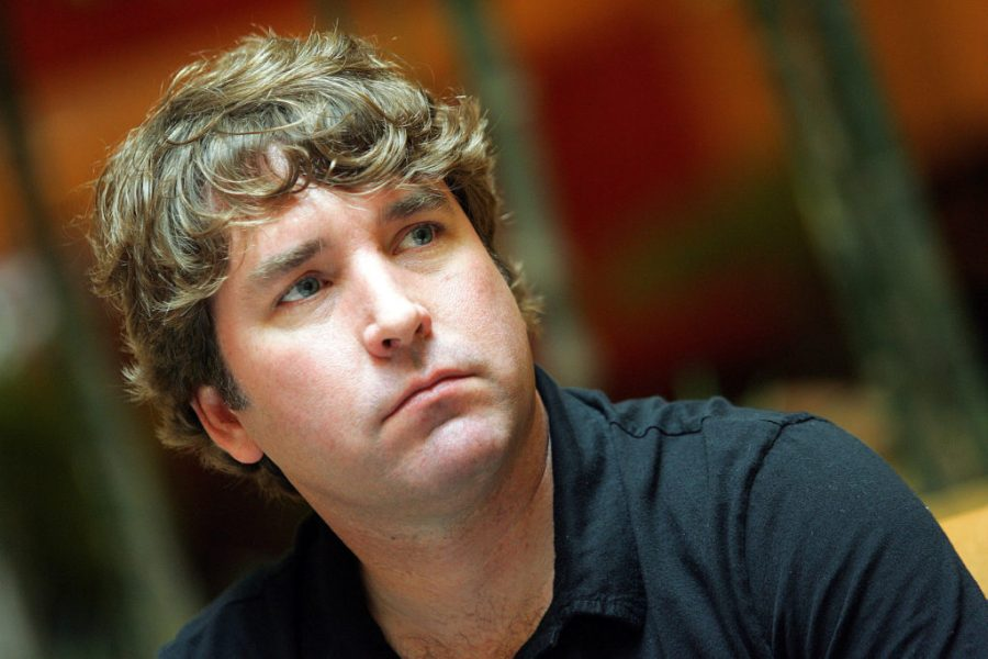 FILE PHOTO: Stephen Hillenburg, creator of the popular animated series Spongebob Squarepants is interviewed by Reuters in Singapore, January 28, 2005. REUTERS/Luis Enrique Ascui/File Photo - RC17E072A1D0