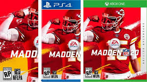 Patrick Mahomes on the cover of Madden 20