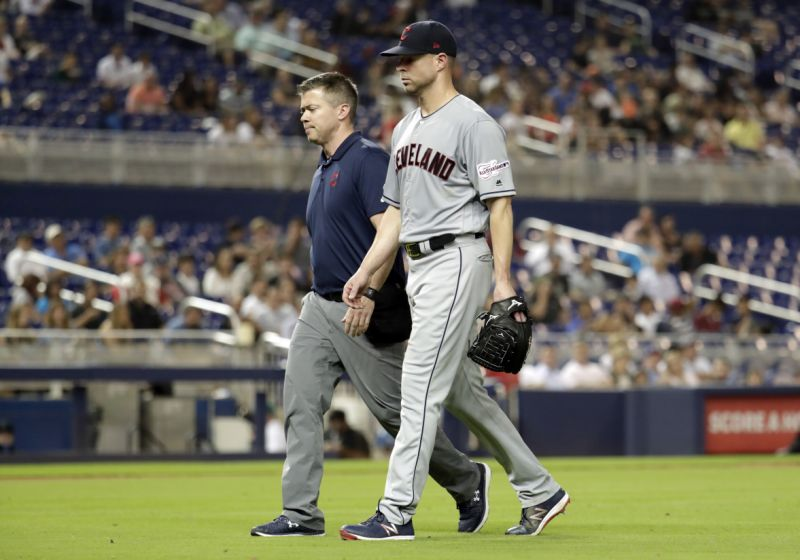 Cleveland Indian's Pitcher Breaks Arm