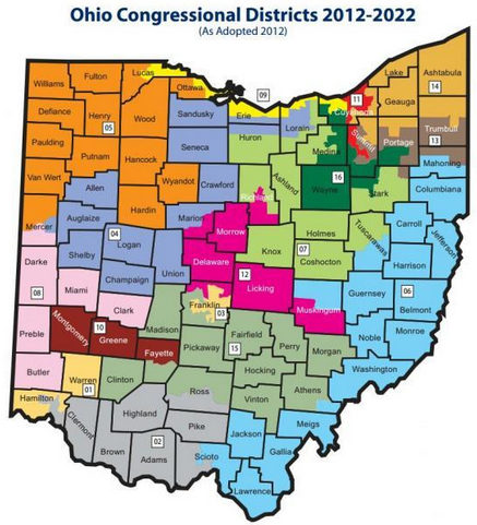 Ohio's District Map is Ruled Unconstitutional