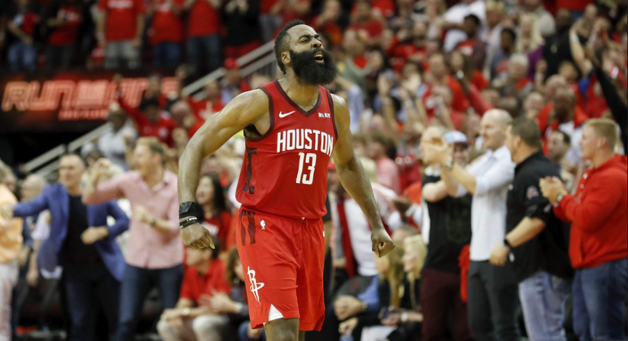 Harden Drops 38 as the Rockets Win to Even the Series 2-2
