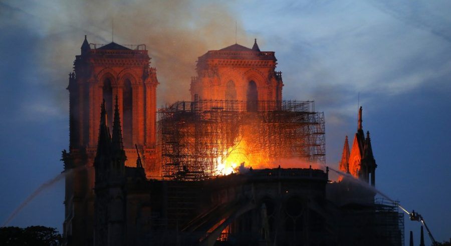 Notre-Dame cathedral in fire