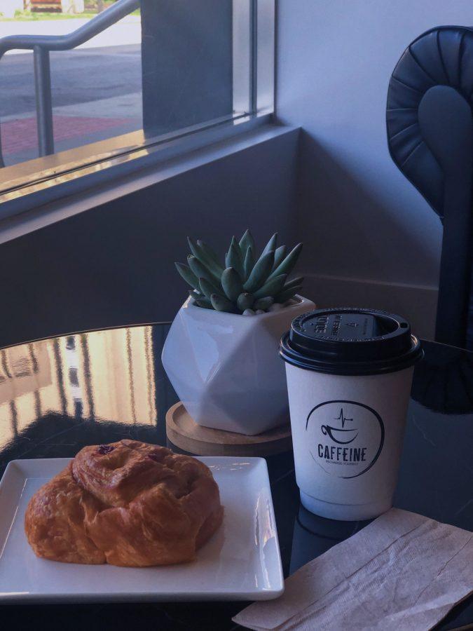 Food from caffeine coffee shop (Taken by Jennifer Ngo)
