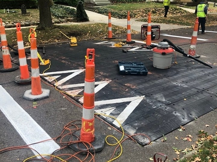 Speed Tables Installed At Intersection In Lakewood