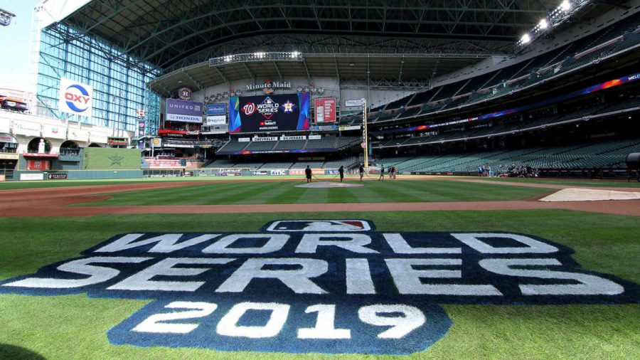 Oct 21, 2019; Houston, TX, USA; A general view of Minute Maid Park before the Houston Astros and the Washington Nationals work out one day before the 2019 World Series. Mandatory Credit: Erik Williams-USA TODAY Sports