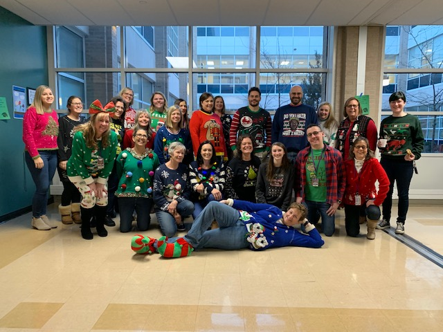Ugly Sweater Day for LHS faculty...
