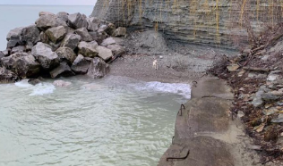 Lakewood Firefighters rescue dog trapped off shore of Lake Erie