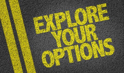 Explore your Options road sign