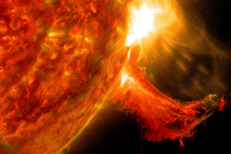 Huge Flare Erupts From a Close By Star