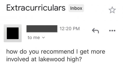 How do you reccomend I get more involved at Lakewood High?
